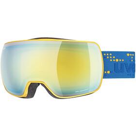 UVEX Compact FM Beskyttelsesbriller, mimose mat/mirror orange